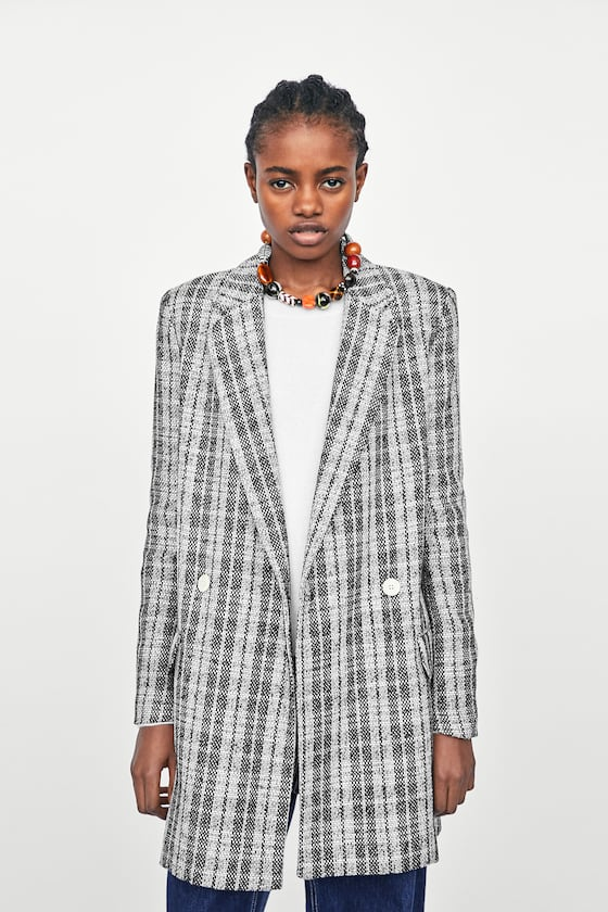 1 zara checked coat coats on discount