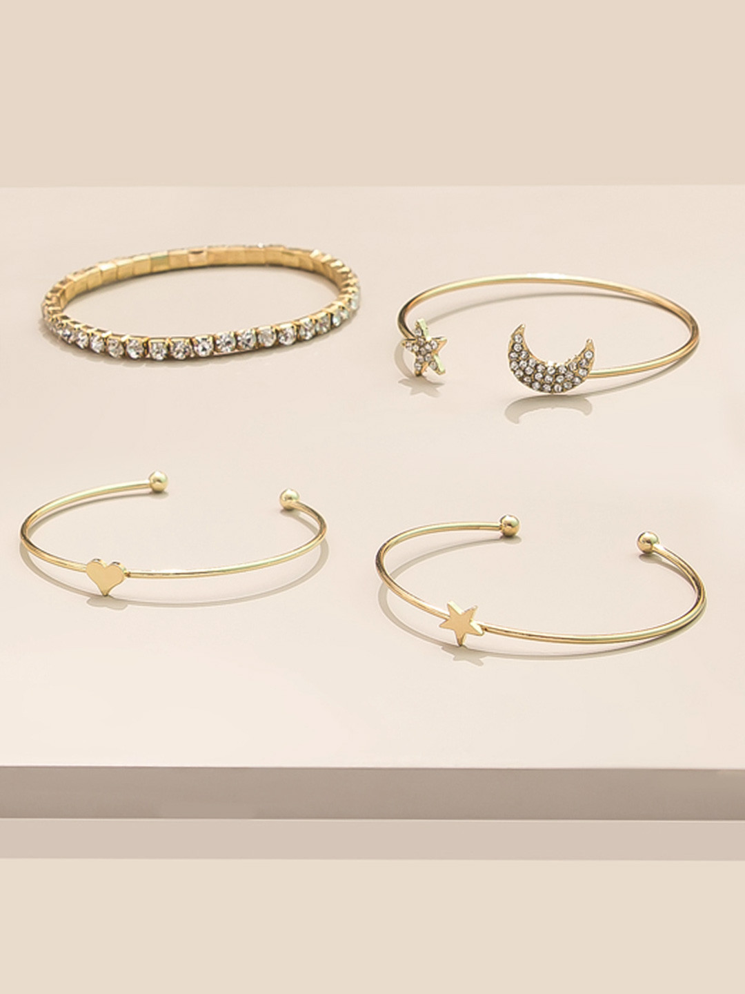 5 pipa bella bracelet set sparkly jewellery diamond