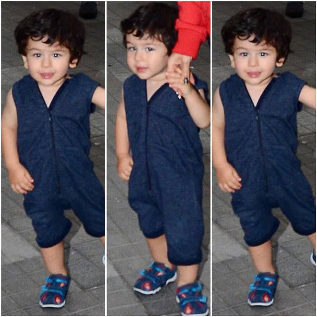 5 taimur ali khan - blue playsuit jumpsuit onesie