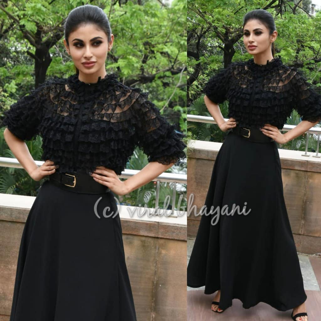 2 mouni roy - black maxi gown for gold promotions