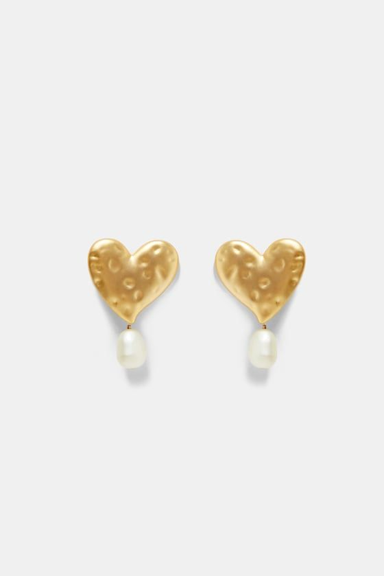 1 zara - HEART EARRINGS