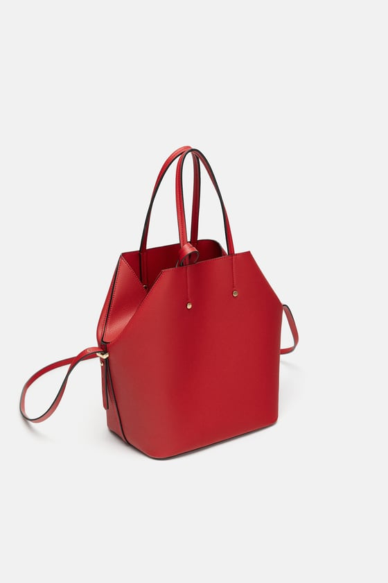 7 zara - SOFT TOTE BAG WITH TOPSTITCHING