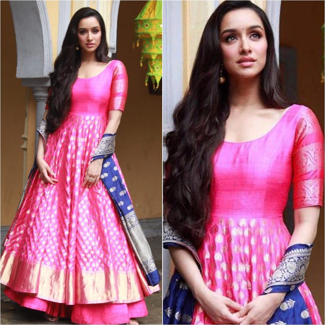 3 shraddha kapoor - pink suit for wedding