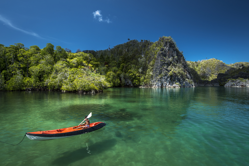 Canoing in Raja Ampat