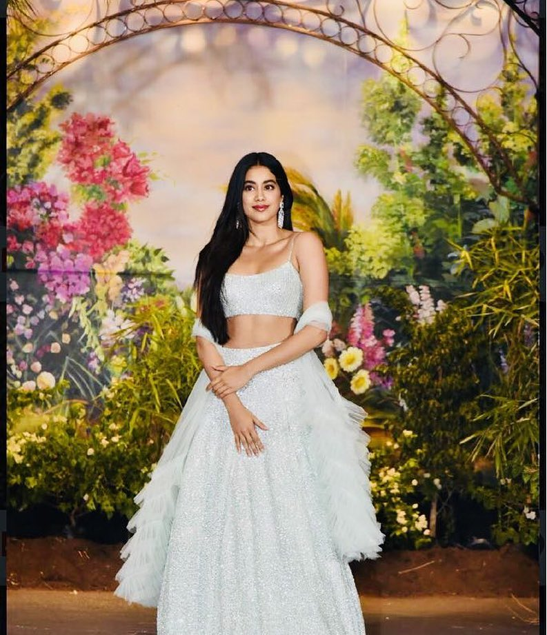 10 janhvi kapoor - light blue lehenga for sonam kapoor's reception