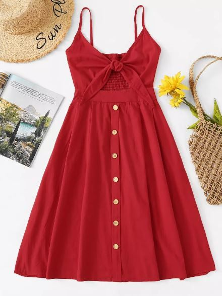 3 button dress stars vacay romwe