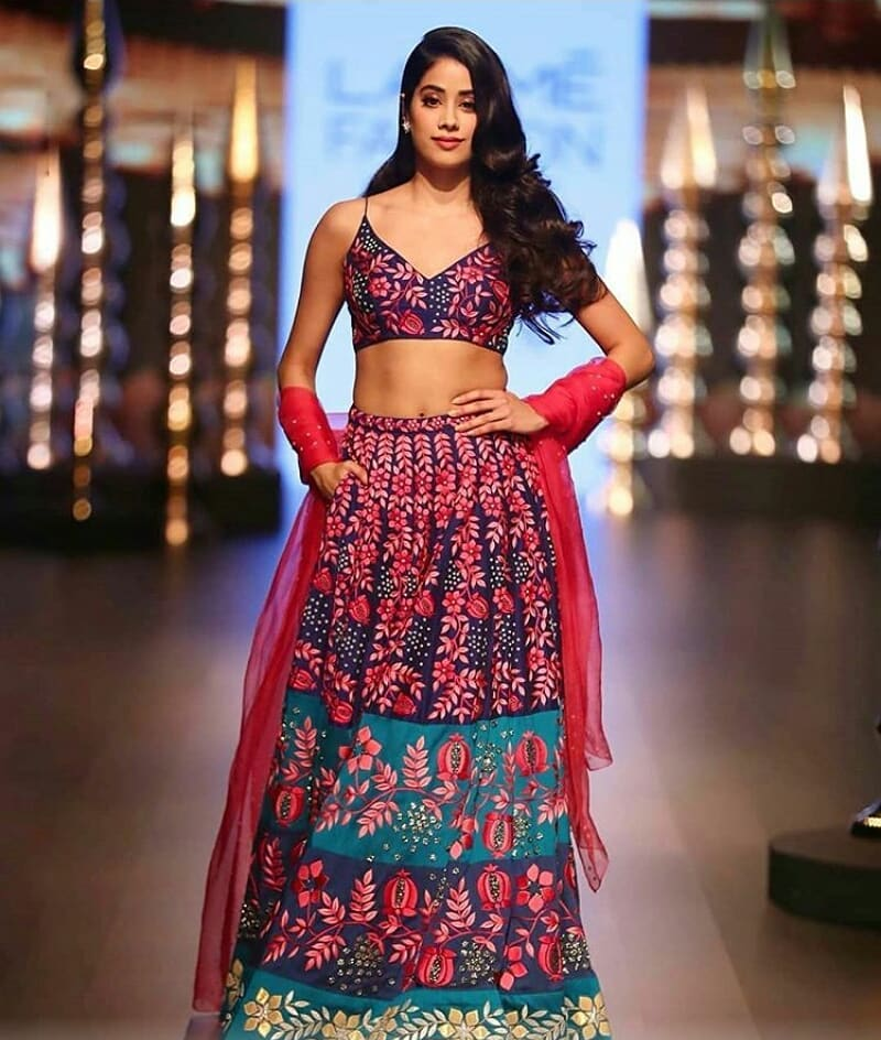 4 janhvi kapoor - lakme fashion week lehenga