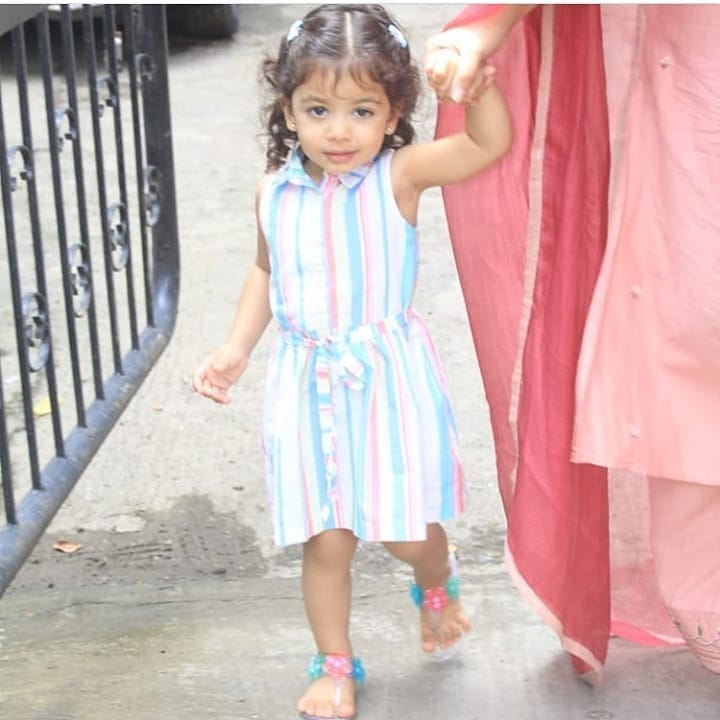 2 misha kapoor - candy striped dress at school