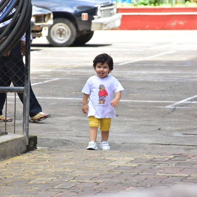 2 taimur ali khan - stucking out his tongue is cute