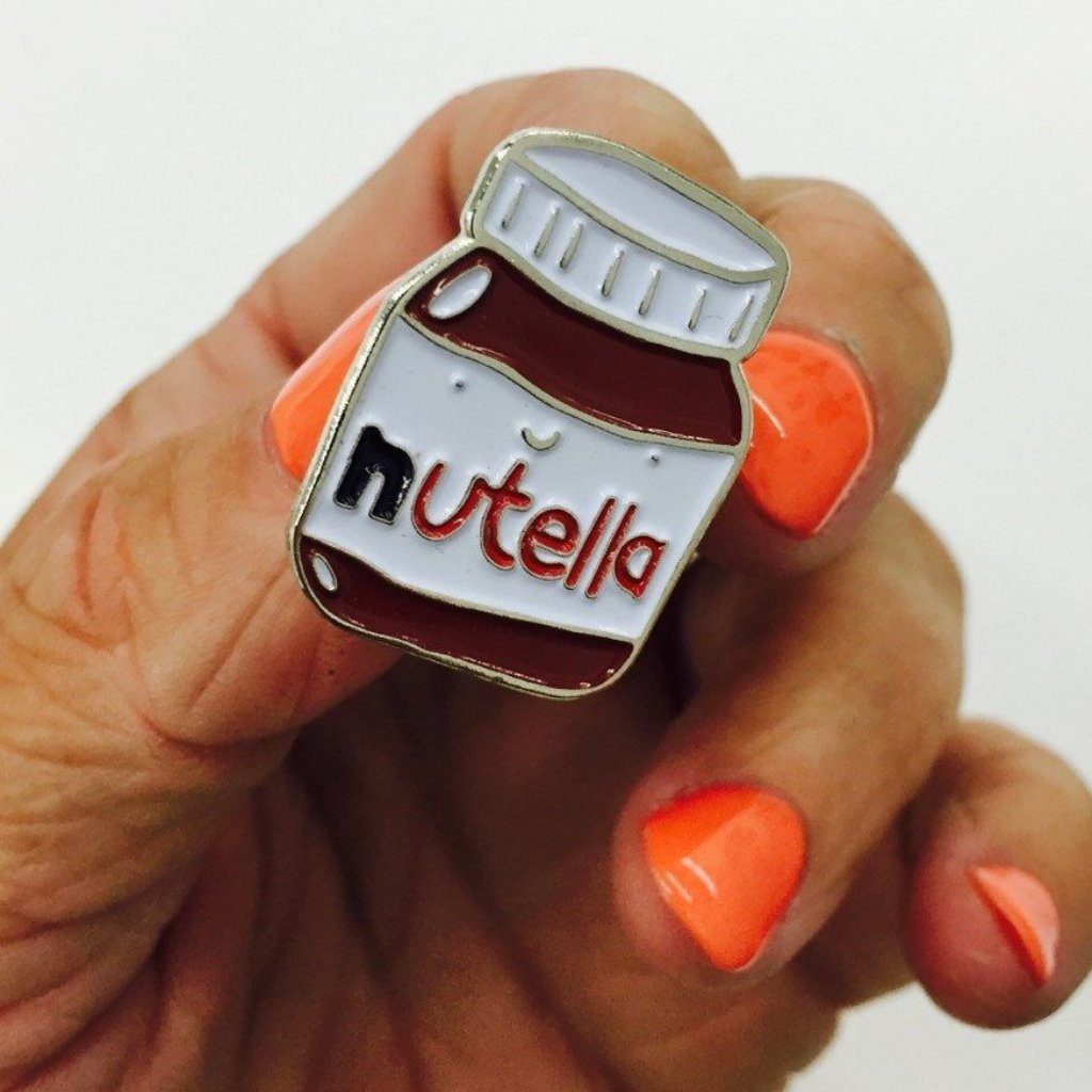 3 pins - FASHION PIN - NUTELLA