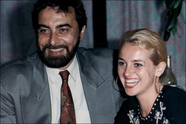 kabir bedi with Susan Humphreys