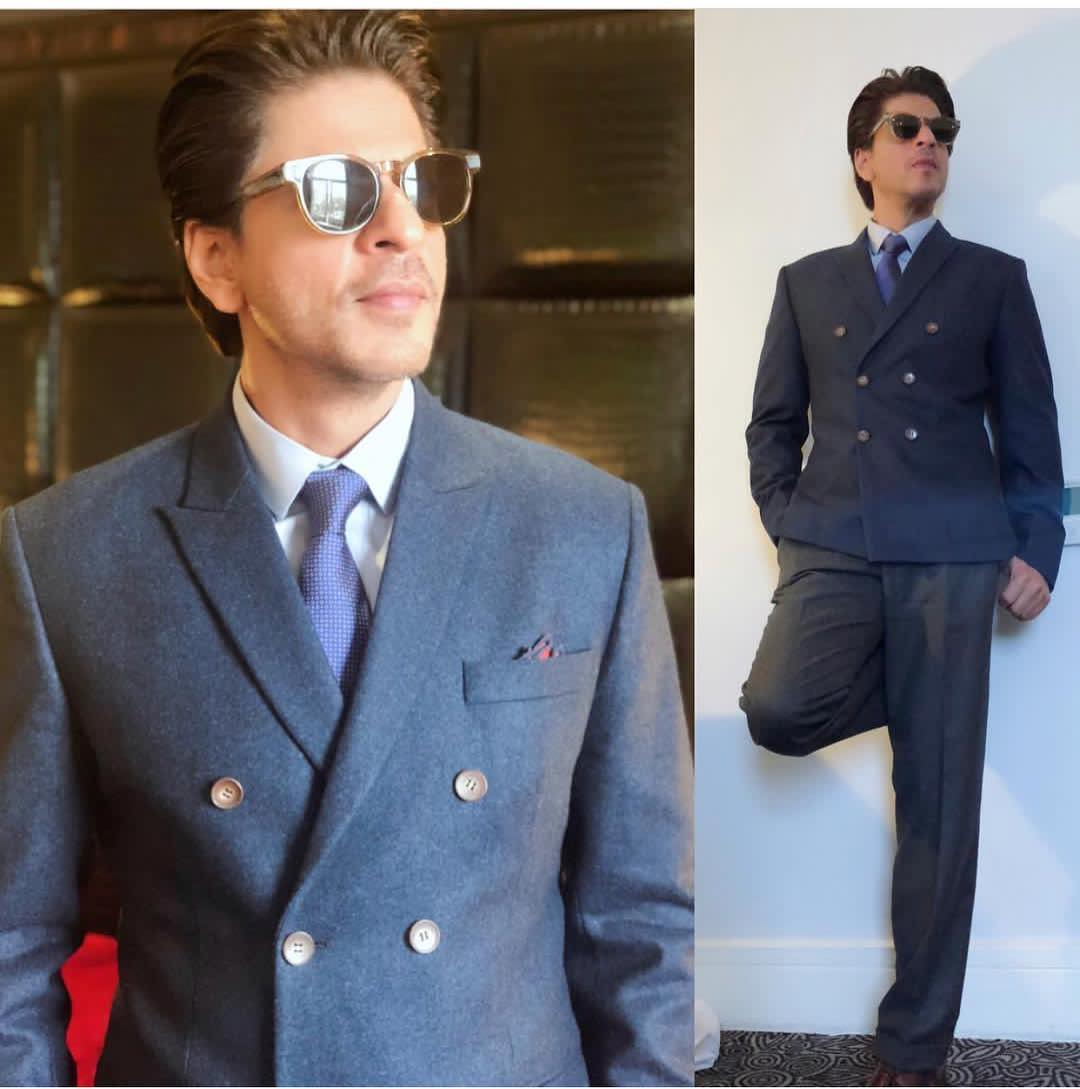 shahrukh khan in dapper suit 1