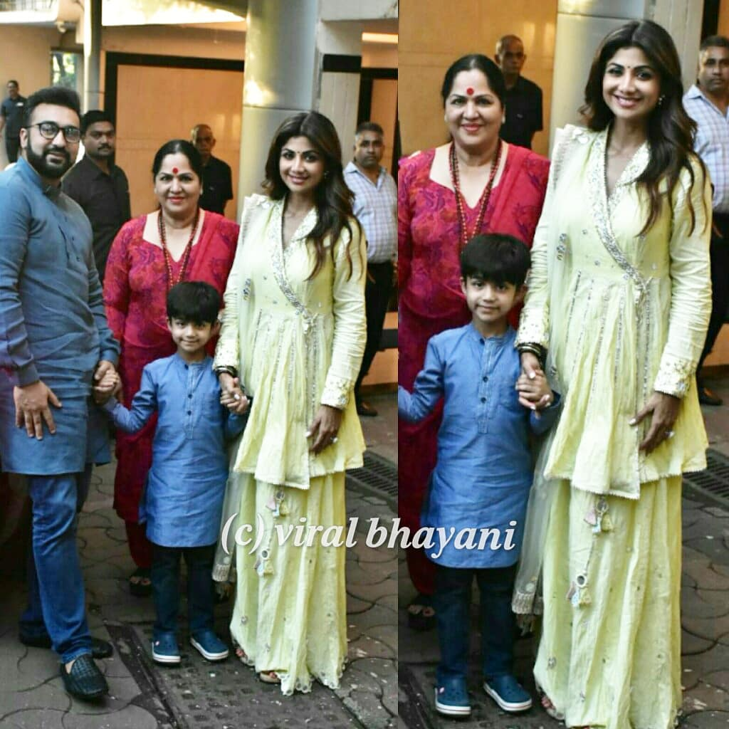Shilpa Shetty with her kid Viaan