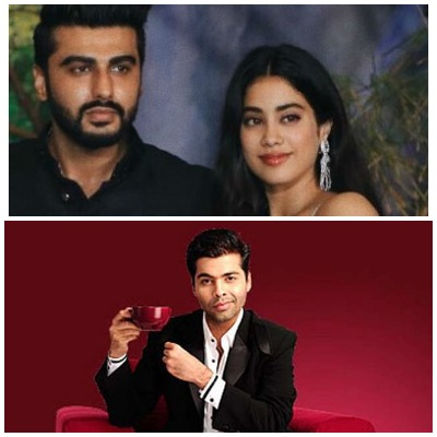 Janhvi Kapoor and Arjun Kapoor in Koffee with Karan