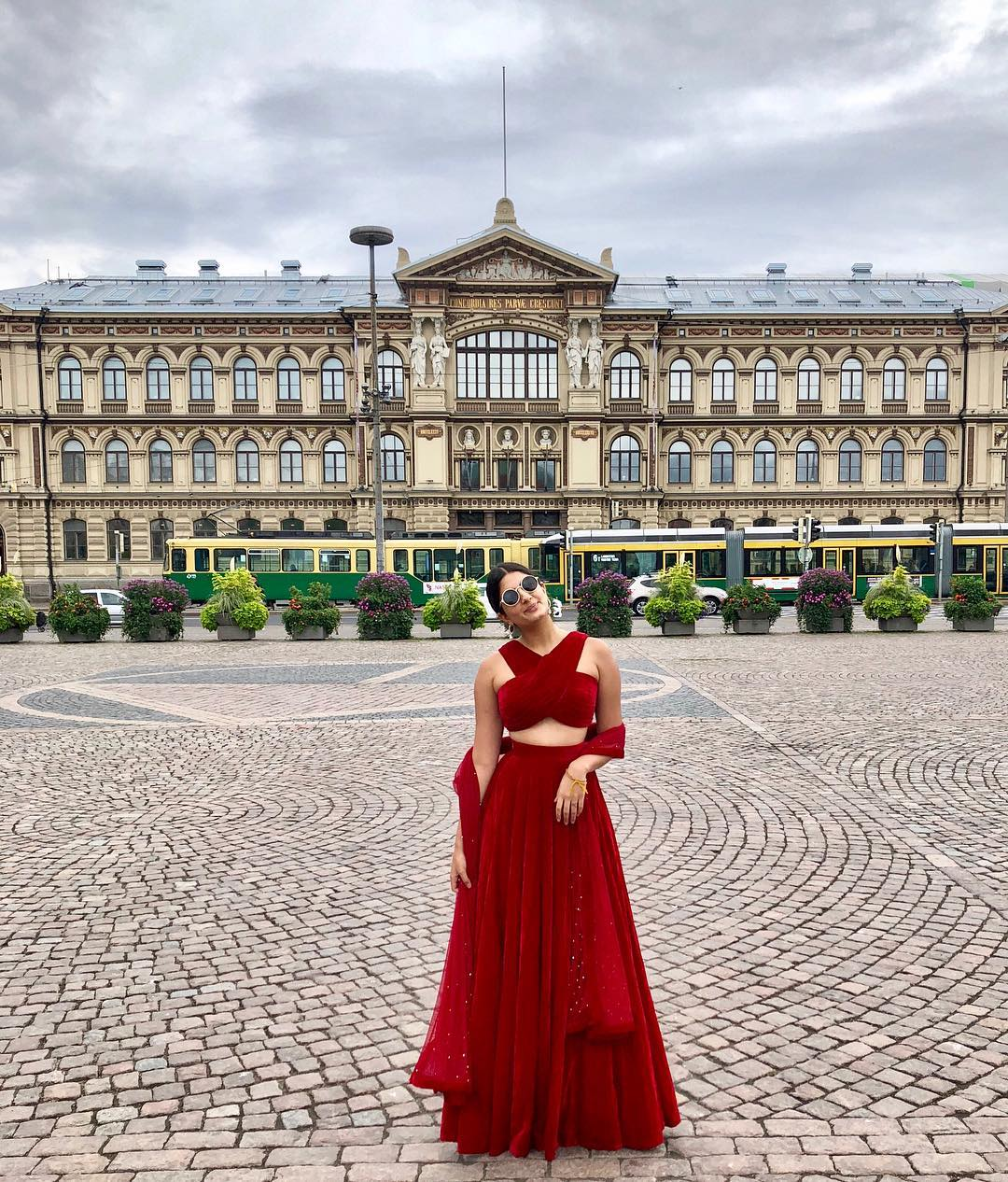 sanjana rishi in red lehenga stylish girls on instagram not bloggers
