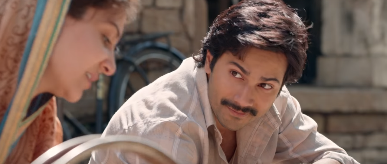 thoughts I had while watching sui dhaaga - varun dhawan looking at anushka sharma