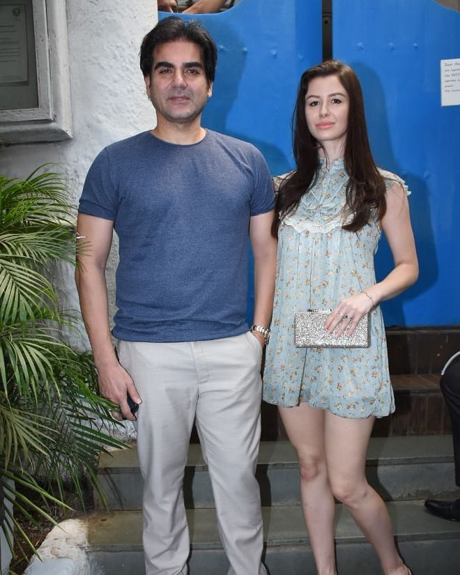 11 neha dhupia invited celebrity friends at her baby shower - Arbaaz Khan at neha dhupia's baby shower