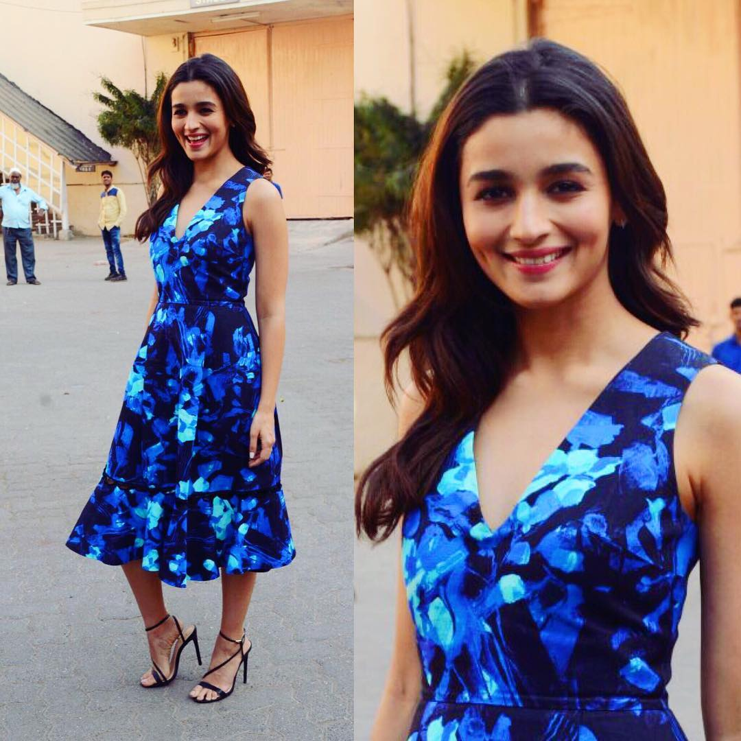 Alia during promotions middle part