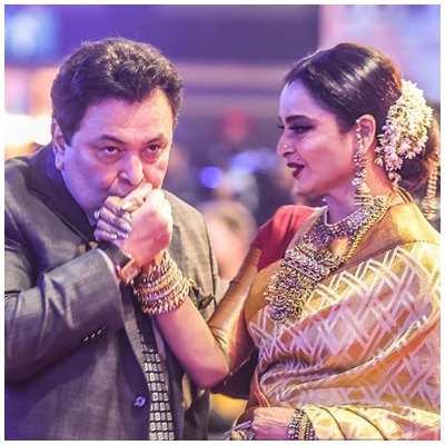 Rekha and Rishi Kapoor