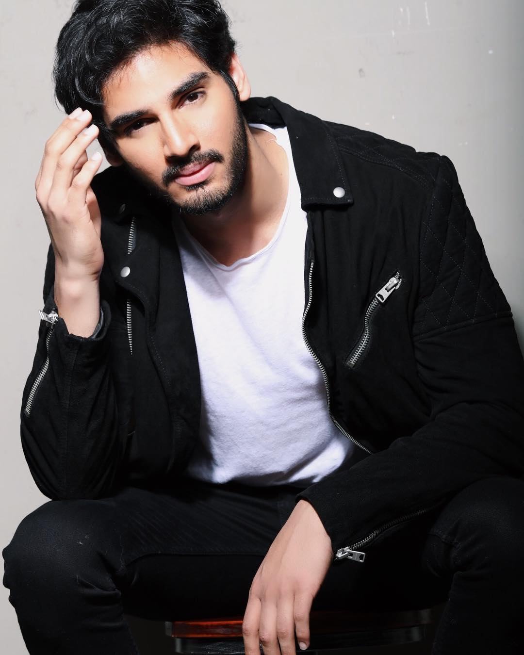 Ahan Shetty To Make His Bollywood Debut- Ahan wearing a blazer