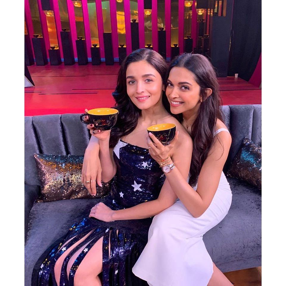 Alia bhatt bestie with Deepika Padukone Koffee with Karan