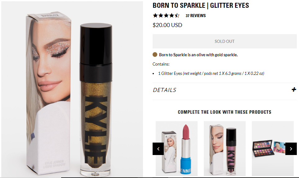 born to sparkle kylie jenner