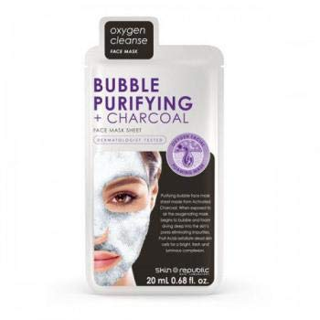 11 sheet masks bubble purifying charcoal