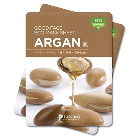 18 sheet mask argan oil