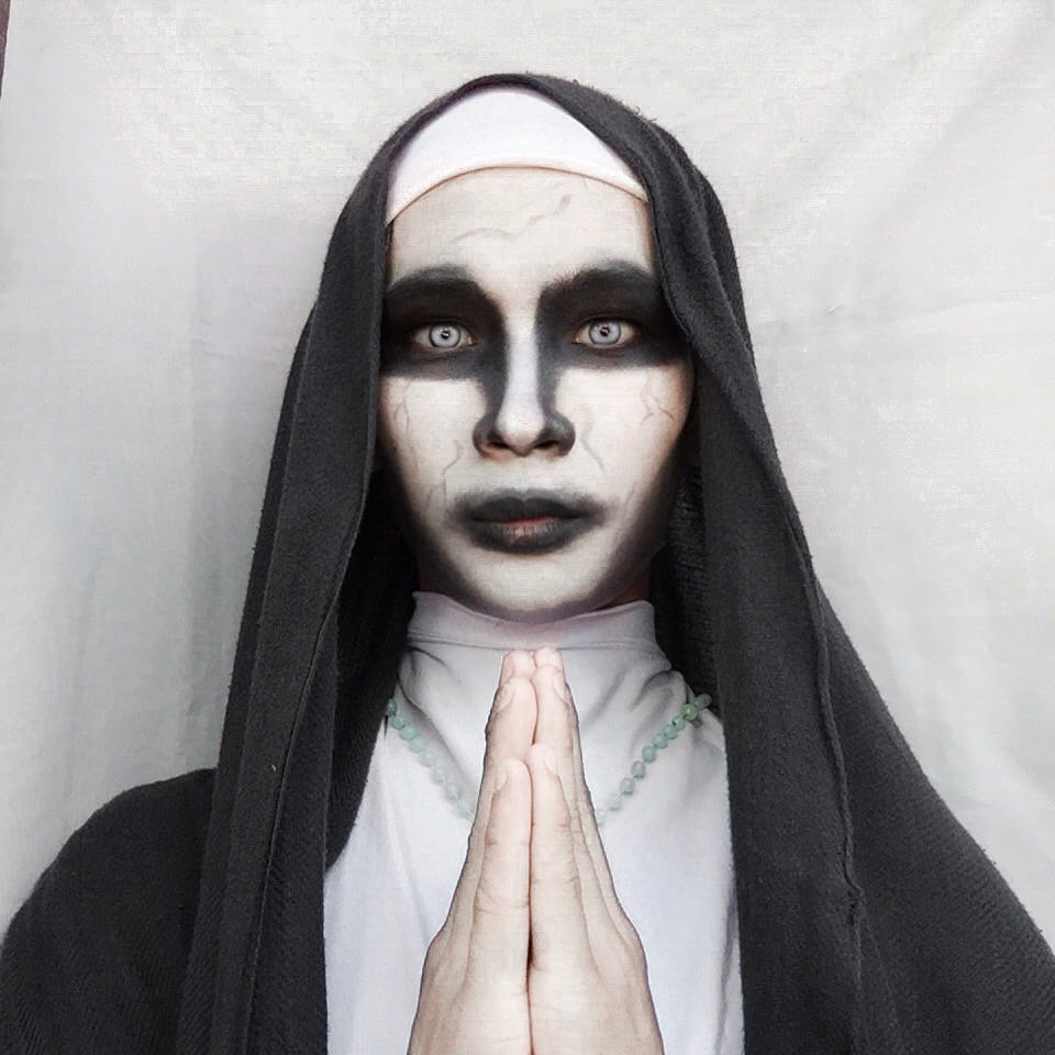 easy halloween makeup looks the nun
