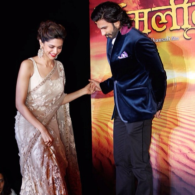 Adorable Pictures Of Deepika And Ranveer- ramleela promotions