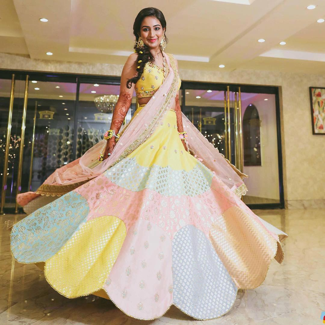 candy colour lehenga 2