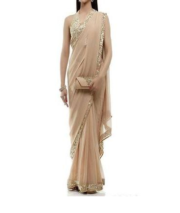 6-sarees-for-farewell-Sequin-Embroidered-Border-Party-Wear-Saree