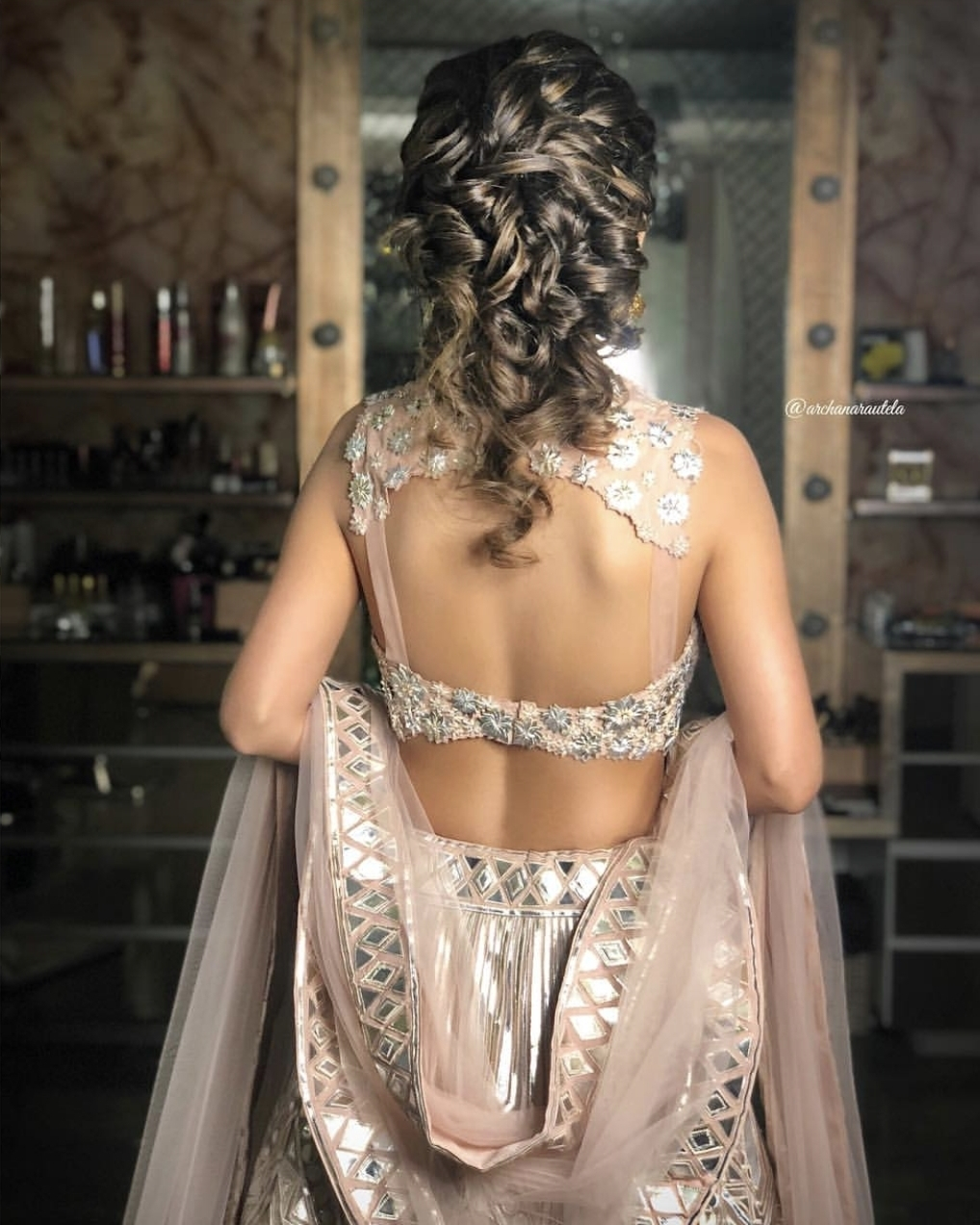 net straps saree blouse back design