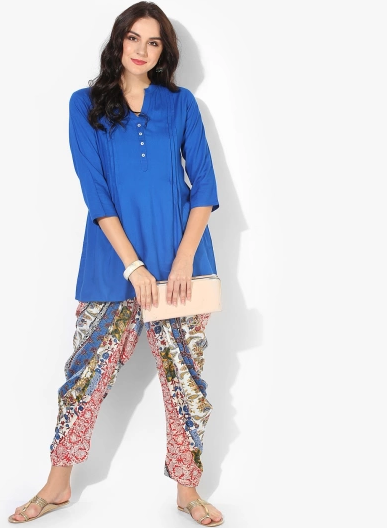 3-blue-short-kurta-with-patiala-salwar-casual-punjabi-suit-designs