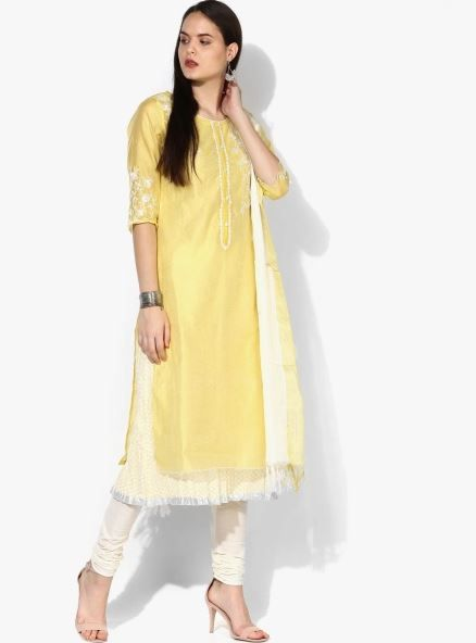 aurelia-yellow-suit-with-churidar-what-to-wear-for-first-lohri-after-wedding