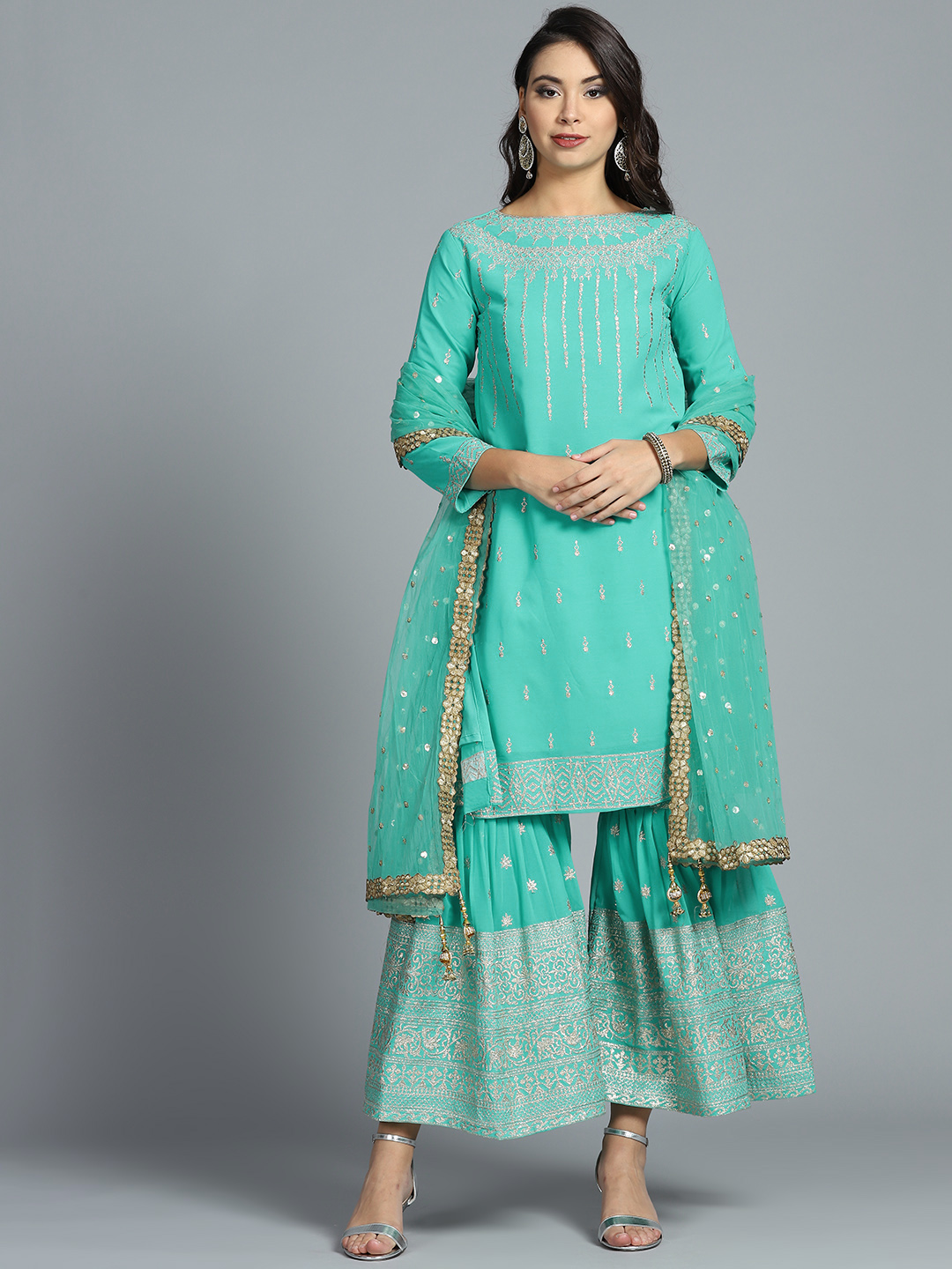 chhabra555-blue-suit-palazzos-what-to-wear-for-first-lohri-after-wedding
