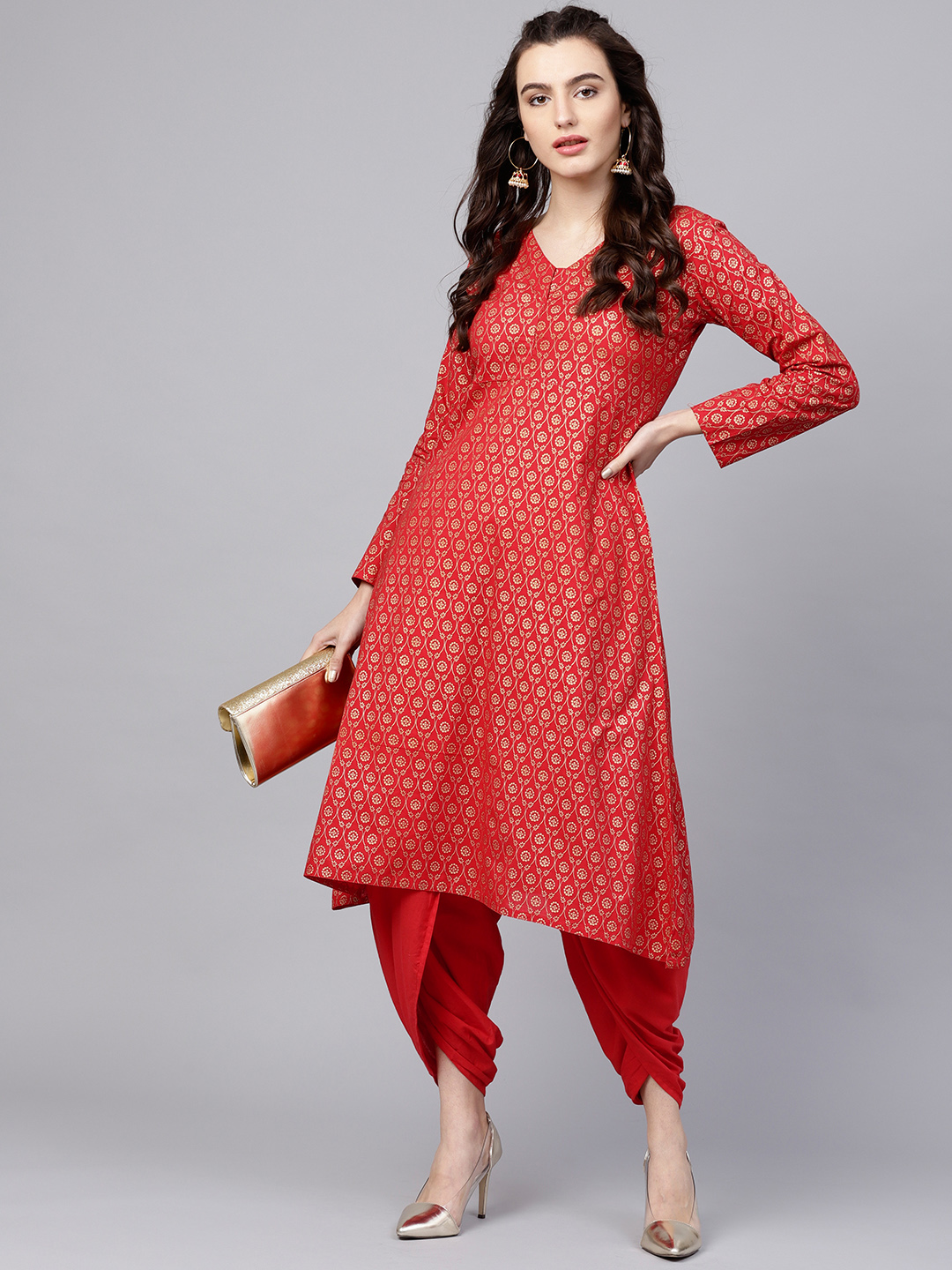 nayo-red-suit-dhoti-pants-what-to-wear-for-first-lohri-after-wedding