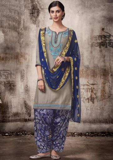 peachmode-grey-blue-suit-patiala-salwar-what-to-wear-for-first-lohri-after-wedding