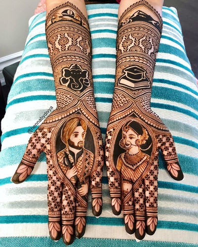 Groom-Bride_Mehendi_designs