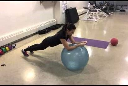 Ball Roll Out exercise