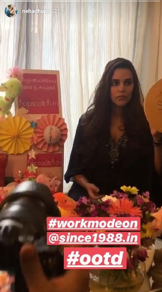 2-Neha-Dhupia-goes-back-to-work-insta-story-2
