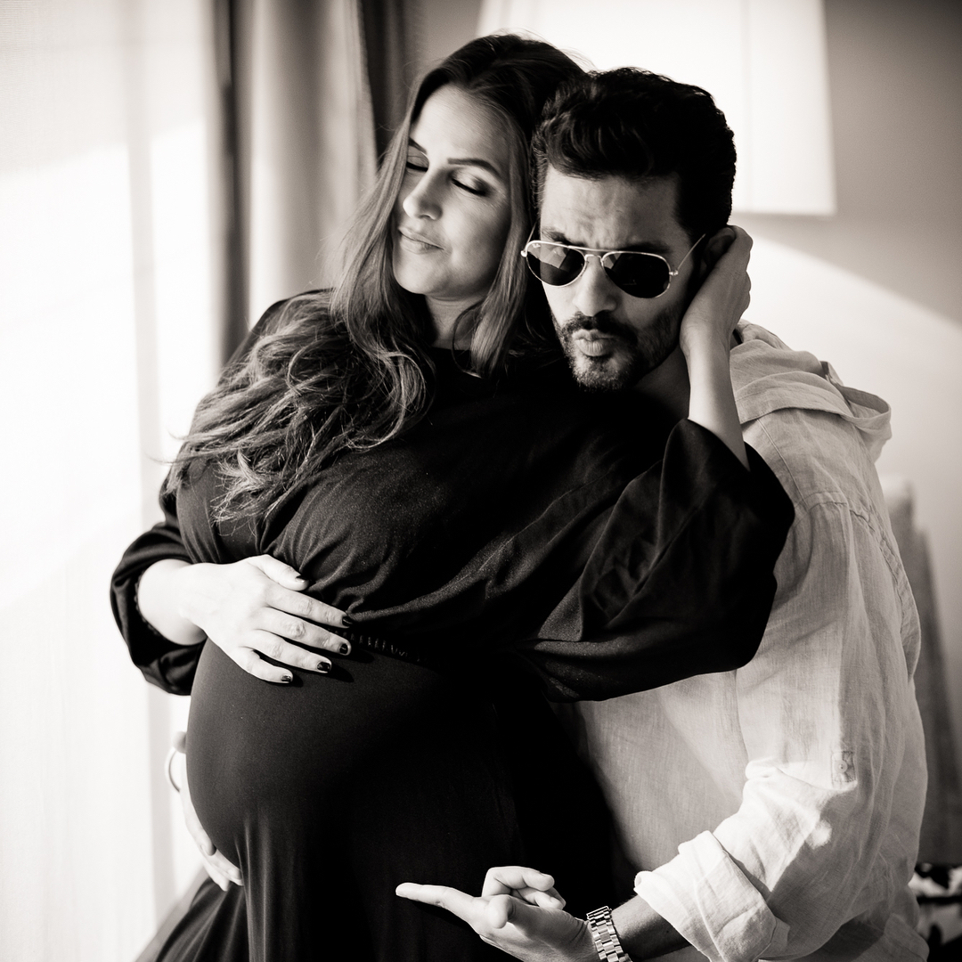 4-Neha-Dhupia-goes-back-to-work-Neha-baby-bump