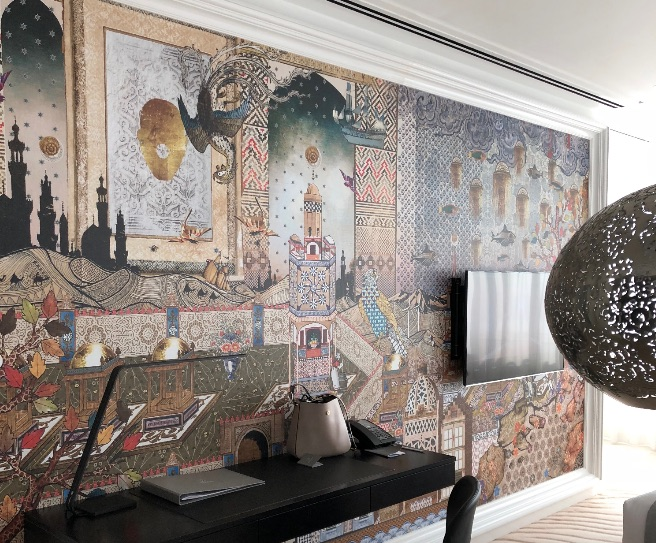 mosaic-wall-mondrian-doha-wedding-destination