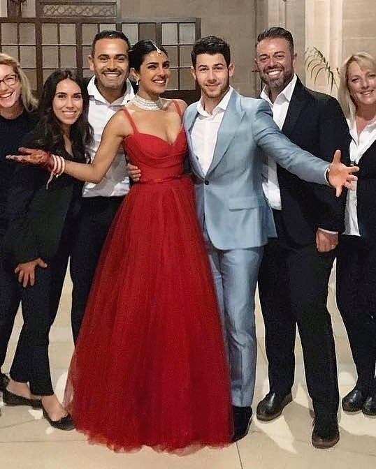 3-nickyanka-priyanka-red-dior-gown-reception