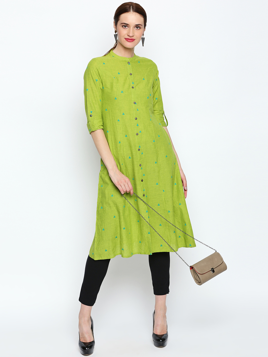 18-neck-designs-for-kurtis-Mandarin-Collar