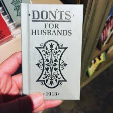 18 valentine's day gift for boyfriend - Don%E2%80%99ts For Husbands Book
