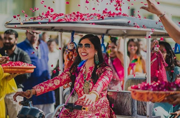 bridal entry idea rickshaw 2