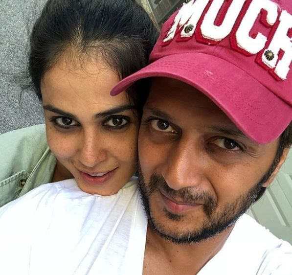 1. genelia wishes riteish deshmukh on his birthday