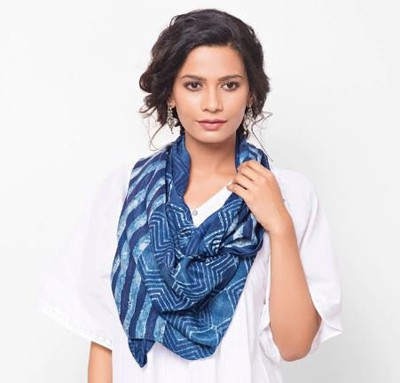 Christmas Gifts Ideas 2018- Blue fabindia stole