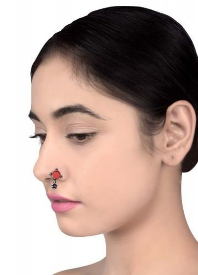 40-jewellery-design-Silver-Plated-Red-Glass-Rawa-Nose-Clip